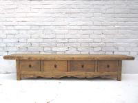 China 1890 Landhaus Stil TV Konsole Anrichte Lowboard für Flatscreen vier Schubladen Ulme von Luxury-Park