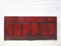 China Kommode klassisch breite Kommode Sideboard rotbraun viele Doppeltüren und Schubladen von Luxury Park