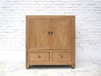 China Jilin 1910 edle kleine Kommode quadratische Front naturhelle Pinie country style by Luxury-Park