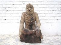 China 1920 Figur Der Fastende Meditation Skulptur buddhistisch Pappel von Luxury Park