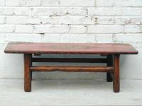 Traditionell flacher Tisch Pinie Tibet um 1910
