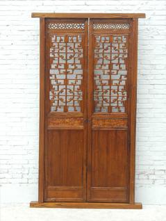 Hohe fein verzierte Innentür Pinie Shandong 1861 - Vorschau