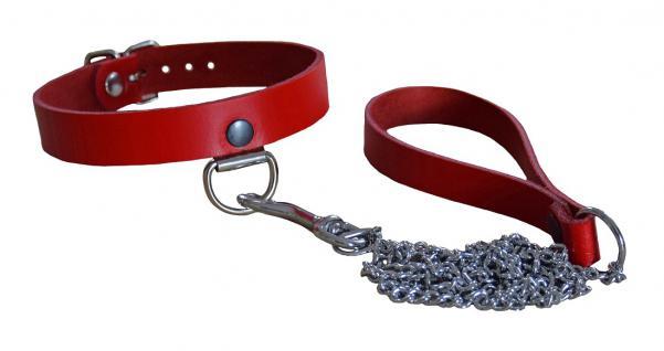 TERGINUM Halsband mit Kette rot