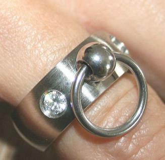 BDSM Ring der O m. 2 Steinchen