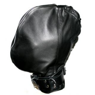 Ledermaske Doppel-Maske schwarz - Vorschau 2