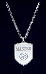 Exklusiver BDSM Schmuck Wappen Anhänger + Halskette Motiv: MASTER