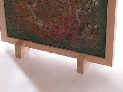 Holzfüße für Infrarotheizungen mit Holzrahmen
