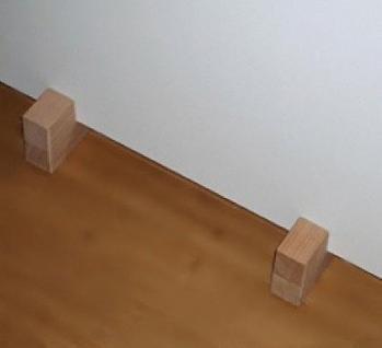 Holzfüße für Infrarotheizungen 30mm dick ohne Rahme - Vorschau