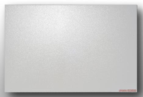 Infrarotheizung PowerSun Reflex, 600 Watt, 50x100 - Alurahmen, Oberfläche weiß, glatt