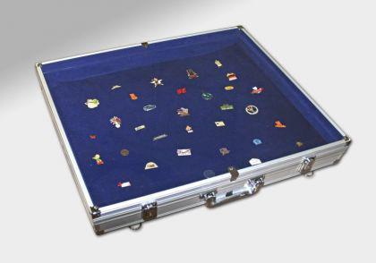 Sammelvitrine Koffer Maxi Innen blau