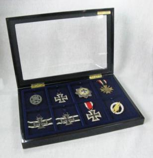 Vitrine für Orden Ehrenzeichen Klavierlack Optik
