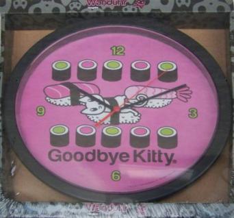 Wanduhr mit Motiv Goodbye Kitty