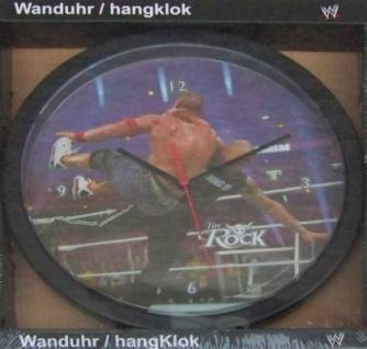 Wanduhr mit Motiv - WWF - The Rock - Wrestling