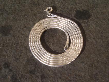 Schlangenkette 925 Silber massiv Kette gestempelt 61 cm 1, 5 mm - Vorschau 3