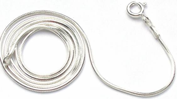 SCHLANGENKETTE - 925 Silber Kette sechskantig 41 cm 1, 1mm
