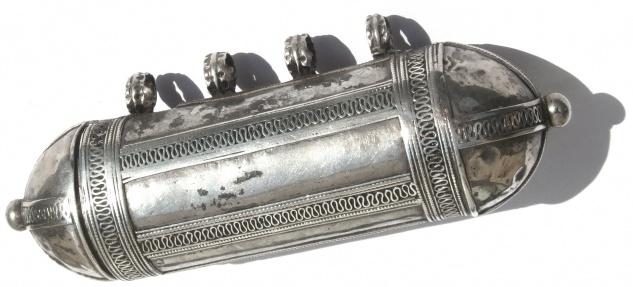 Grosser Zylinder antiker Silber Gürtelanhänger Unikat