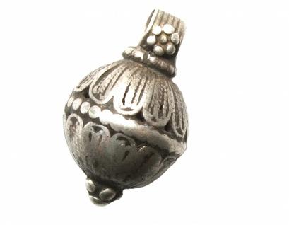 Anhänger Filigrankugel Silber antik jüdisch jemenitisch Unikat oval gut erhalten
