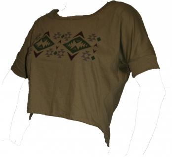 100% Baumwolle T-SHIRT navy mit rot grün grau Muster