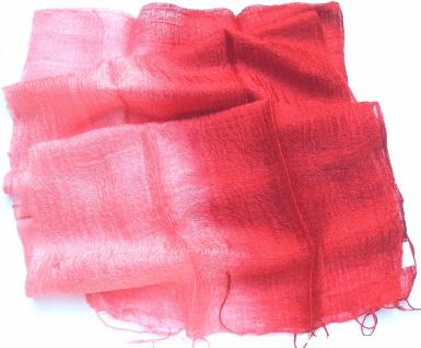 Blazer Schal 100 % Rohseide 35 x 160 cm rotpink