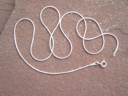 Schlangenkette 925 Silber massiv Kette gestempelt 41 oder 51 cm 1 mm - Vorschau 5