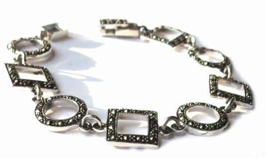 Armband 99x funkelnder Markasit 925 Silber