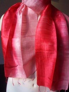 Blazer Schal 100 % Rohseide 35 x 160 cm rotpink - Vorschau 4