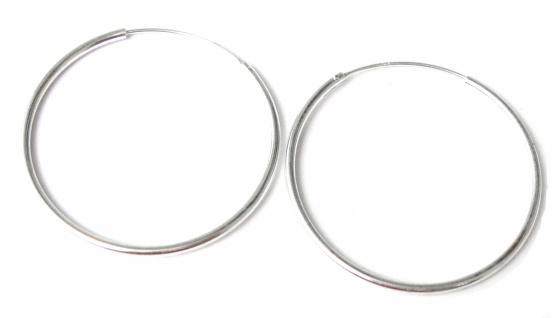 Runde Creolen 1 Paar Silber 65 mm Ohrringe