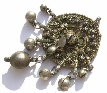 Amulett Anhänger Silber antik jüdisch jemenitisch Unikat filigran groß