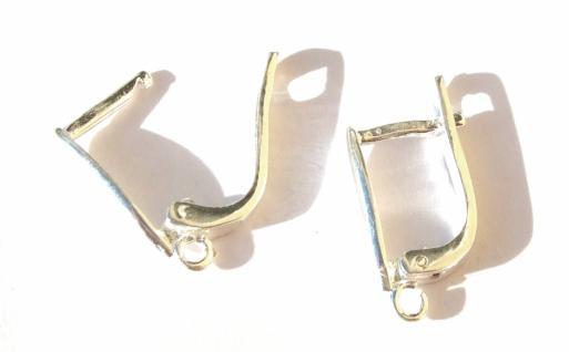 NAVETTE SCHANIER OHRBRISUREN 1 Paar 925 Silber Ohrringe 19 mm Klappohrringe