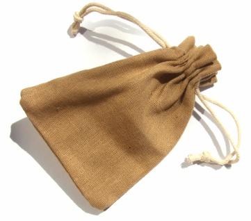 Geschenksäckchen Baumwollleinen 10 x 14 cm beigebraun