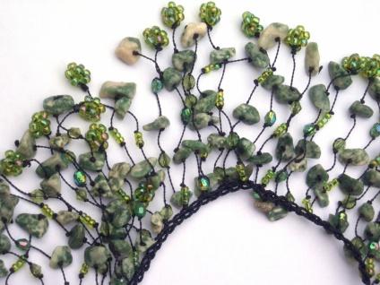 DARK GREEN FAIRYTALE -Epidot Kaskaden Kette