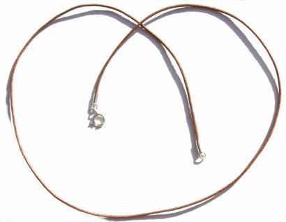 Baumwollkette braun Verschluß 925 Silber und Länge frei wählbar