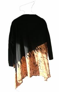 100% Baumwolle lange Batik Jacke braun schwarz lässig chic