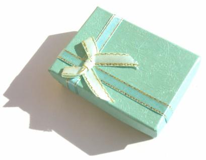 BROKATBOX mit SCHLEIFE Schmuck Geschenkkästchen für Ohrringe Ringe Ketten