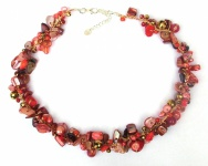 RED GOLD SUMMERFEELING rotrosa Multistein Collier
