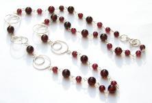 GRACY RINGS & RED - Grant Kugeln 925 Silber Collier Kette rot