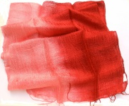 Blazer Schal 100 % Rohseide 35 x 160 cm rotrosa