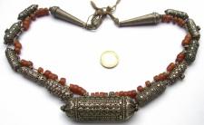 AMBERKETTE antik Bernstein Silber Kette jüdisch jemenitisch