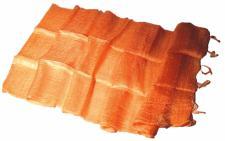 Blazer Schal 100 % Rohseide 35 x 160 cm orange