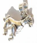 Bewegliches Pferd massiv 925 Silber Anhänger