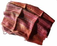 Blazer Schal Streifen 100 % Rohseide 30 x 160 cm Multicolor Unikat