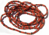 Kette rote Korallen Silber antik jüdisch jemenitisch Unikat 215 cm