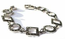 99x funkelnder Markasit 925 Silber Armband