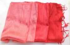 WEICHER GLANZ-Schal 100 % Rohseide 3Ton Rot 42x180cm