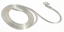 Taipankette 925 Silber 46/41 cm 1 mm sehr stabil edel fein