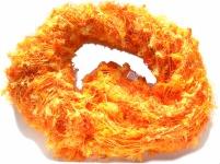 Schal 100% Rohseide 30 x 152 cm orange gelb kuschelig