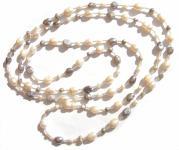 WHITE SILVER PEARL POWER - große SWZ Perlen weiß Silber Kette 15
