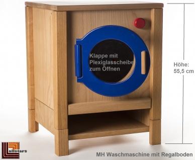 Allstars Kinderküche Waschmaschine H = 55, 5 cm Spielküche aus Buchenholz