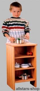 Schöllner Kinderküche Spielküche aus Holz mit Herdplatten, Edelstahl-Spülbecken, Backofen und Regal - Vorschau 3