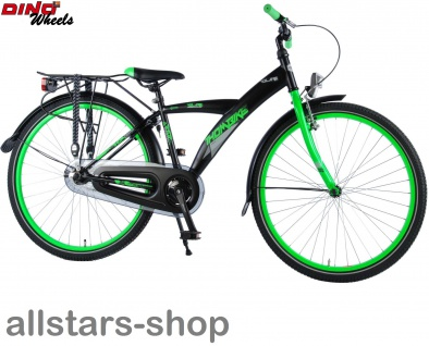 """Allstars Dino Wheels Bikes Thombike Kinderfahrrad Jungenfahrrad 26 """" mit Rücktrittbremse grün"""